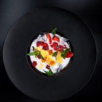 Кокосовый айс суп с фруктами